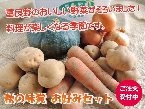 秋の味覚お好みセットのページ案内写真